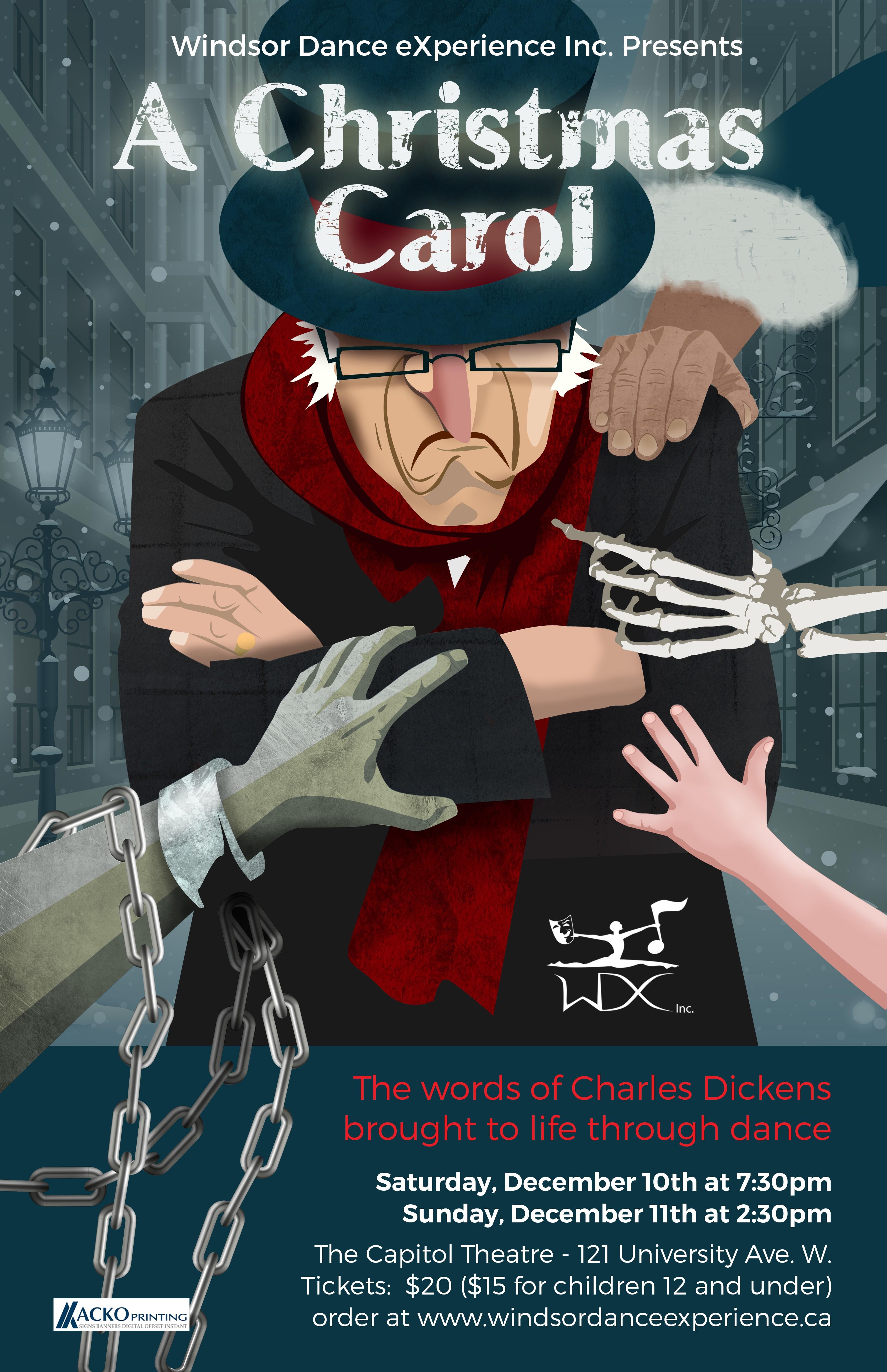 A Christmas Carol Poster.Capitol Theatre Wdx A Christmas Carol