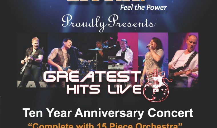 """LiUNA! Feel the Power proudly presents, Greatest Hits Live. Ten year Anniversary Concert, """"complete with 15 piece orchestra"""" (conducted by Mike Karloff). $5 from each ticket will be donated to Transition to Betterness.Tickets can be purchased at the capitol theatre & Canadian Conservatory of Music."""